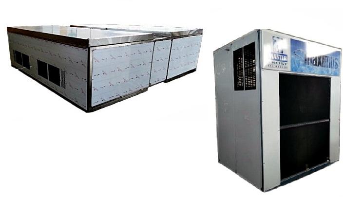 מכונת קרח תעשייתית C-30000 לייצור 3 טון קוביות קרח